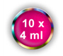 10 x 4 ml BASE ONE COLORGEL**OHNE LABEL