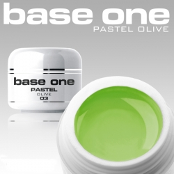 10 x 4 ml BASE ONE PASTELL COLORGEL**OHNE LABEL*OLIVE