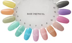 10 x 4 ml BASE ONE PASTELL COLORGEL*DARK MINT**Nr. 5 **OHNE LABEL