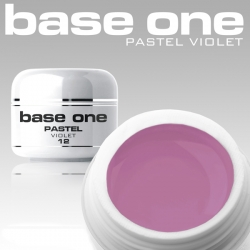 10 x 4 ml BASE ONE PASTELL COLORGEL**OHNE LABEL*VIOLETT