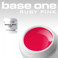 10 x 4 ml BASE ONE NEON COLORGEL**OHNE LABEL*NEON-RUBY-PINK