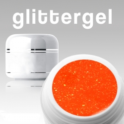 10 x 4 ml Neon Glittergel orange*OHNE LABEL*