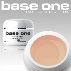 10 x 4 ml BASE ONE PASTELL COLORGEL*PASTELL DIRTY PINK**OHNE LABEL