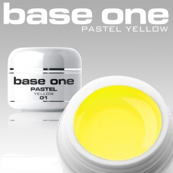 10 x 4 ml BASE ONE PASTELL COLORGEL*PASTELL YELLOW**OHNE LABEL