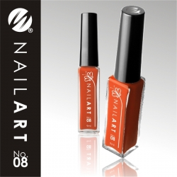 9 ml Nail Art-Fine-Liner-Striper **Farbe 08**orange