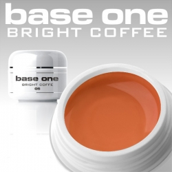 10 x 4 ml BASE ONE COLORGEL*BRIGHT COFFEE*OHNE LABEL