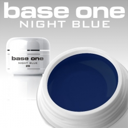 10 x 4 ml BASE ONE COLORGEL*NIGHT BLUE*OHNE LABEL
