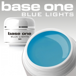 10 x 4 ml BASE ONE COLORGEL*BLUE LIGHTS**OHNE LABEL