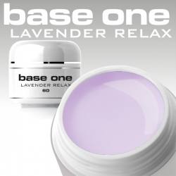 10 x 4 ml BASE ONE COLORGEL*LAVENDER RELAX*OHNE LABEL