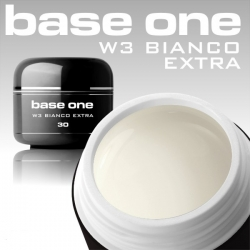 3 ml BASE ONE BIANCO EXTRA FRENCH GEL WEISS  MUSTERGEL