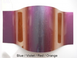 1g CHAMÄLEON Chrom Mirror Effekt Pigmente  / Flipflop/    Nr.1   blue / violett / red / orange  mit Applikator