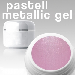50 ml Metallic Gel** Pastell pink Nr.08