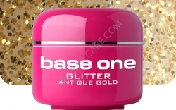 4 ml BASE ONE GLITTERGEL ANTIQUE GOLD NR.2