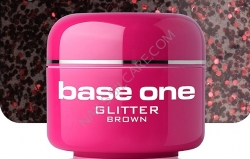 4 ml BASE ONE GLITTERGEL BROWN**NR. 17