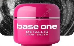 1 Liter  BASE ONE METALLIC-COLORGEL*DARK SILVER**NR.8