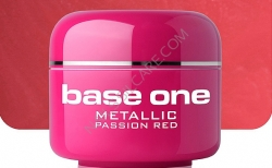 10 x 4 ml BASE ONE METALLIC-COLORGEL*PASSION RED*OHNE LABEL**NR. 32