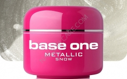 4 ml BASE ONE METALLIC-COLORGEL*SNOW**NR. 1