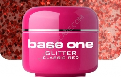 1 LITER BASE ONE GLITTERGEL CLASSIC RED**NR. 15*