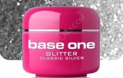 15 ml BASE ONE GLITTERGEL CLASSIC  SILVER**NR.7