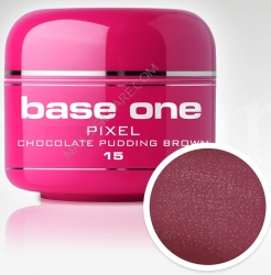 1 LITER Base one Pixel sparkling neon chocolate pudding brown **Nr. 15