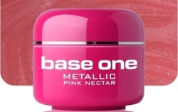 10 x 4 ml BASE ONE METALLIC-COLORGEL*PINK NECTAR*OHNE LABEL**NR. 29