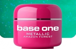 10 x 4 ml BASE ONE METALLIC-COLORGEL*AMAZON FOREST*OHNE LABEL*NR. 18