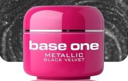 1 Liter  BASE ONE METALLIC-COLORGEL*BLACK VELVET**NR. 50