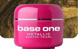 10 x 4 ml BASE ONE METALLIC-COLORGEL*COFFEE PEARL*OHNE LABEL**NR. 41