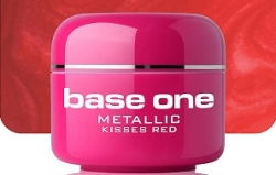 1 Liter  BASE ONE METALLIC-COLORGEL*KISSES RED**NR. 31