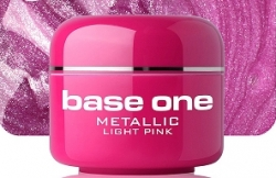 1 Liter BASE ONE METALLIC-COLORGEL*LIGHT PINK**NR. 4