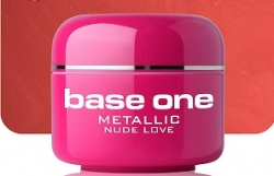 1 Liter  BASE ONE METALLIC-COLORGEL*NUDE LOVE**NR. 30
