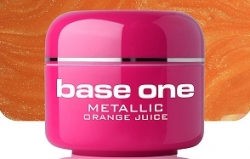 250ml  BASE ONE METALLIC-COLORGEL*ORANGE JUICE**NR. 28