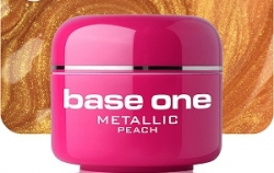 1 Liter  BASE ONE METALLIC-COLORGEL*PEACH**NR. 5