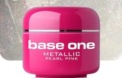 10 x 4 ml BASE ONE METALLIC-COLORGEL*PERL-PINK*OHNE LABEL**NR. 2
