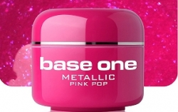 250ml  BASE ONE METALLIC-COLORGEL*PINKY POP**NR. 35