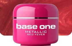 10 x 4 ml BASE ONE METALLIC-COLORGEL*RED FEVER*OHNE LABEL**NR. 33