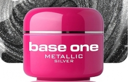 1 Liter BASE ONE METALLIC-COLORGEL*SILVER**NR. 9