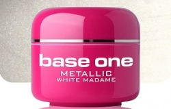 4 ml BASE ONE METALLIC-COLORGEL*WHITE MADAME**NR. 12