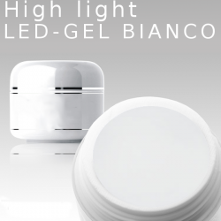 250ml High Light Gel Led Bianco French white
