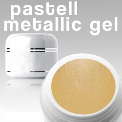 4 ml Metallic Gel** Pastell aprikose***NEW**