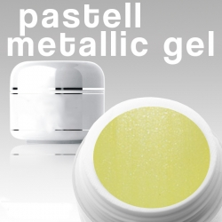4 ml Metallic Gel** Pastell gelb***NEW**