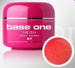 250ml  Base one Pixel neon glitter sexy coral**NR. 27