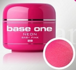 250ml Base one Pixel neon glitter baby pink**NR. 28