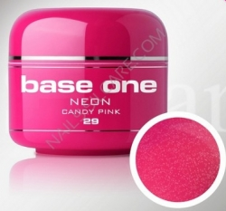250ml  Base one Pixel neon glitter candy pink**NR. 29