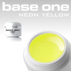 10 x 4 ml BASE ONE NEON COLORGEL**OHNE LABEL*NEON YELLOW