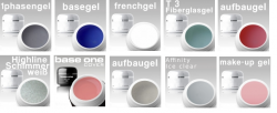 10 x 3 ml MUSTER-GELSET / Aufbau / French / Finish/ Haft / Make-Up NR. 4
