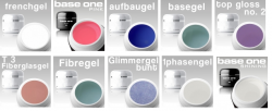 10 x 3 ml MUSTER-GELSET / Aufbau / French / Finish/ Haft / Make-Up NR. 6