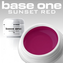 10 x 4 ml BASE ONE COLORGEL**OHNE LABEL*SUNSET RED
