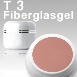 10 x 4ml T3 Fiberglas-Gel Rosa*OHNE LABEL