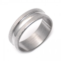 Edelstahlring silver-sand Nr. 33***mit RINGBOX